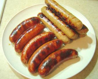 Plate of Grilled Wursts