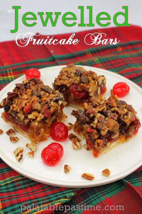 Jewelled Fruitcake Bars