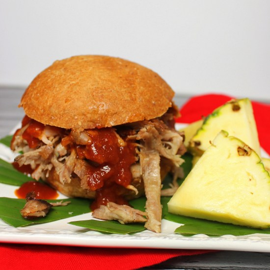 Kalua Pig with Hawaiian-Style BBQ Sauce