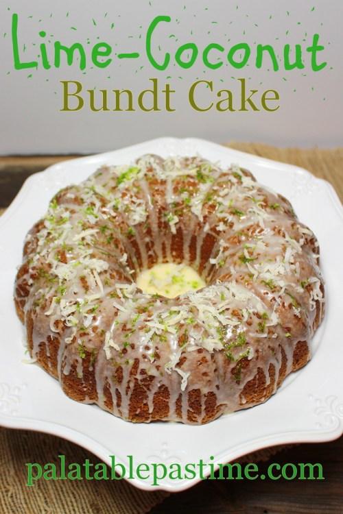 Lime Coconut Bundt Cake #BundtBakers
