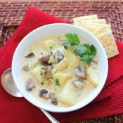 Savory Clam and Mushroom Chowder