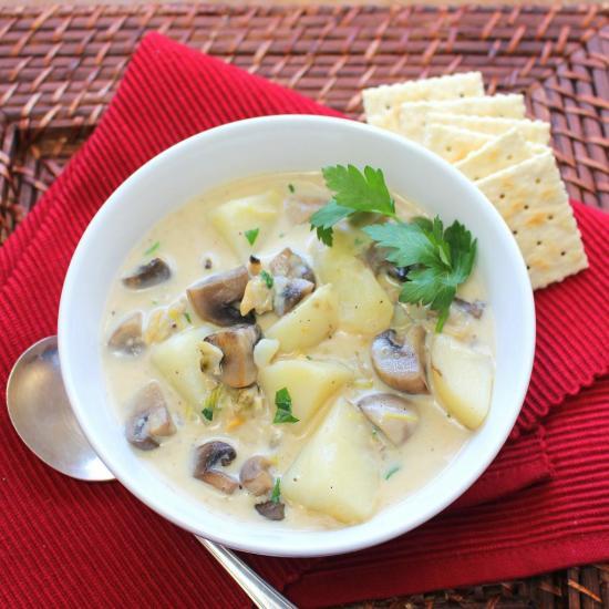 Savory Clam and Mushroom Chowder