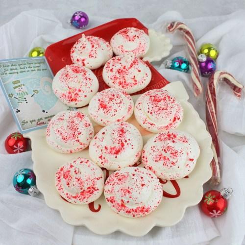 Snowman Poop - Peppermint Meringue Cookies