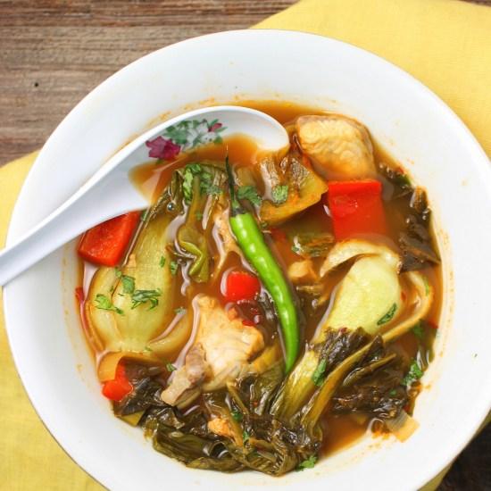 Suan Cai Yu: Szechuan Hot and Sour Fish Soup