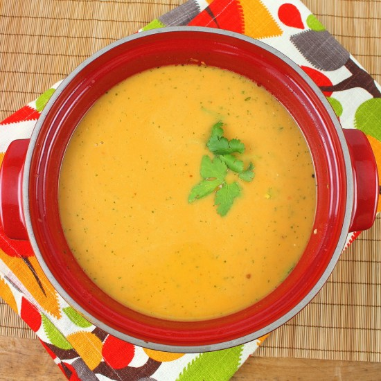 Sweet Potato, Chilli and Coriander Soup