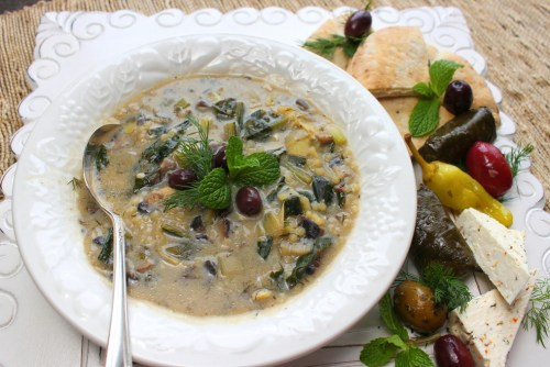 Vegetarian Magiritsa (Greek Easter Soup)