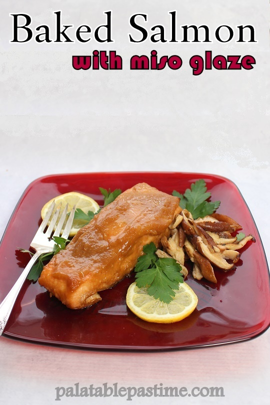 Baked Salmon with Miso Glaze