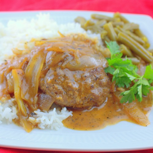 Beef Patties in Onion Gravy (Hamburger Steaks in Gravy)