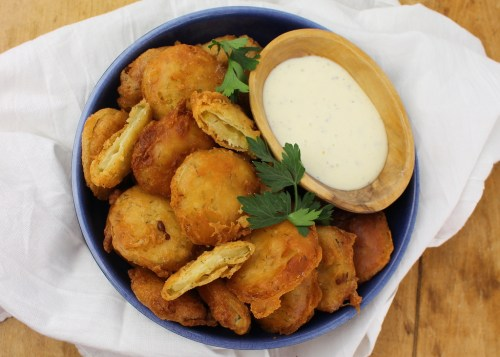 Beer Battered Pickle Chips