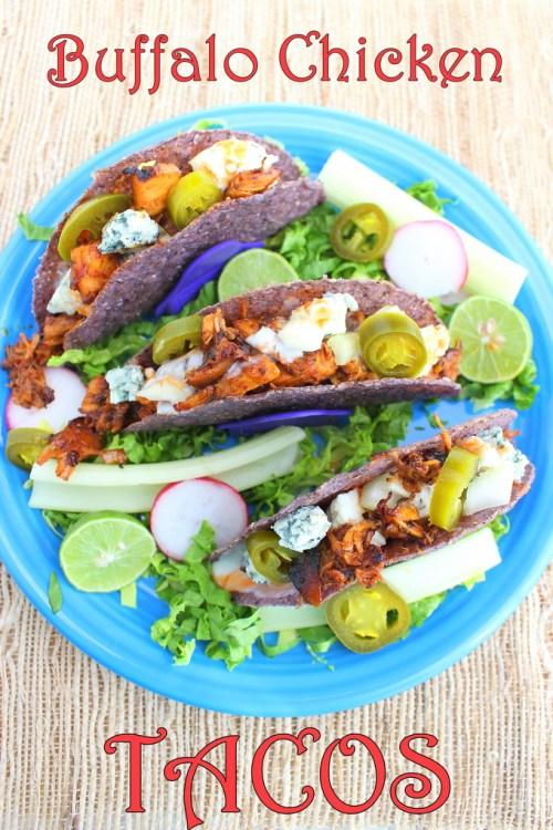 Buffalo Chicken Tacos #SundaySupper