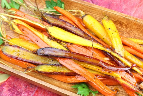 Pan Roasted Carrots with Apple Molasses