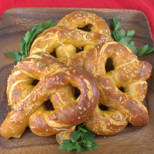 Cheddar Garlic Soft Pretzels
