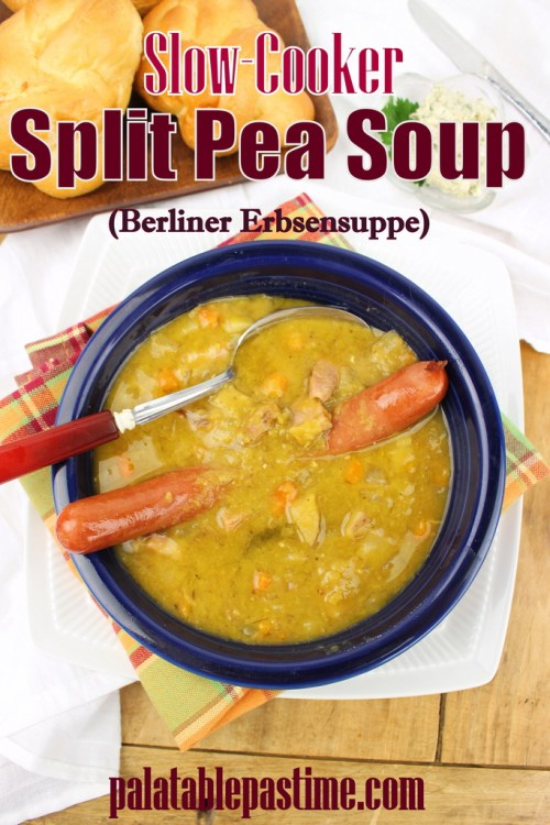 Slow Cooker Berliner Style Pea Soup (Erbsensuppe)