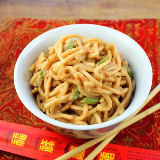 Honey Sriracha Sesame Noodles