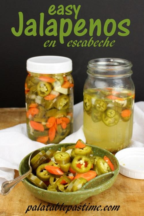Pickled Jalapeños en Escabèche