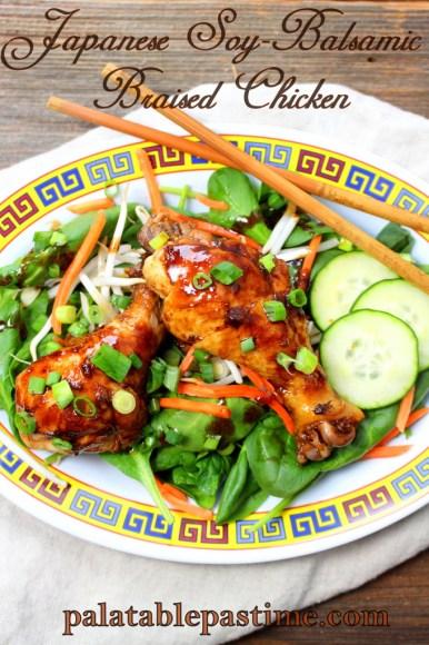 Japanese Soy-Balsamic Braised Chicken