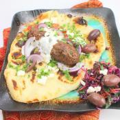 Ground Lamb Shish Kebabs on Pita