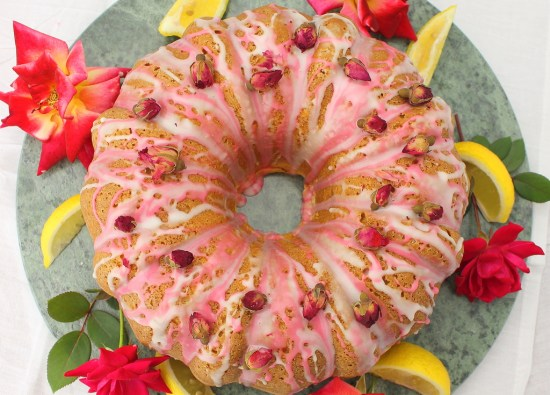 Lemon and Rosewater Bundt Cake