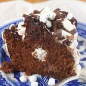 Marshmallow Hot Chocolate Bundt Cake