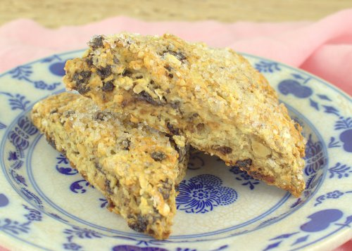 Oatmeal, Cherry and Toasted Walnut Scones
