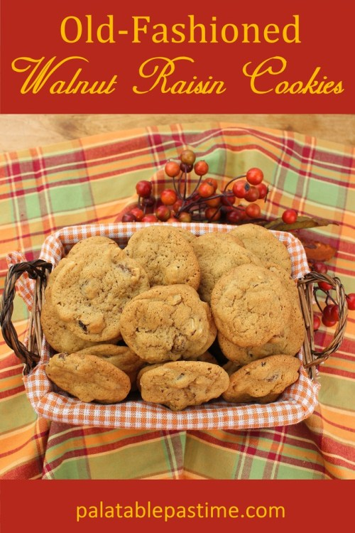 Old-Fashioned Walnut Raisin Cookies