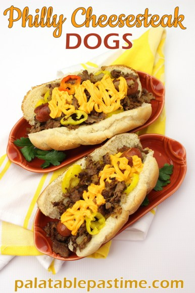 Philly Cheesesteak Dogs for #SundaySupper