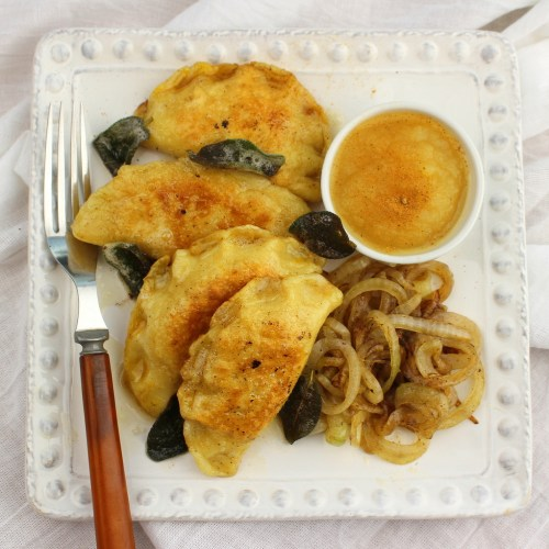 Pumpkin Pierogies with Brown Butter Sauce