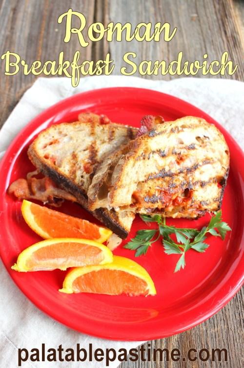 Roman Breakfast Sandwich for #BrunchWeek