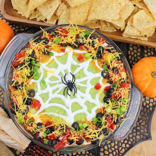 Spider Web Taco Dip