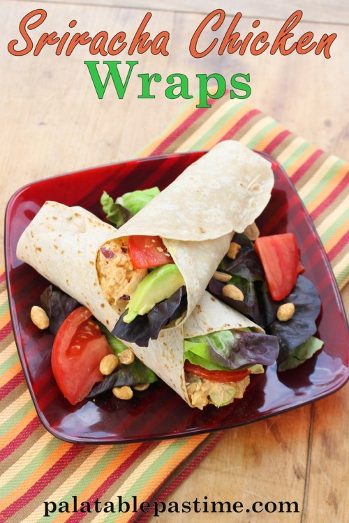 Sriracha Chicken Wraps