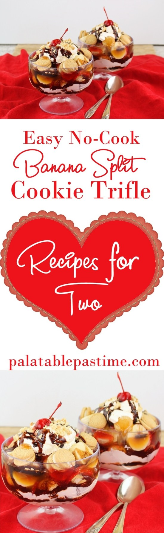 Banana Split Cookie Trifles