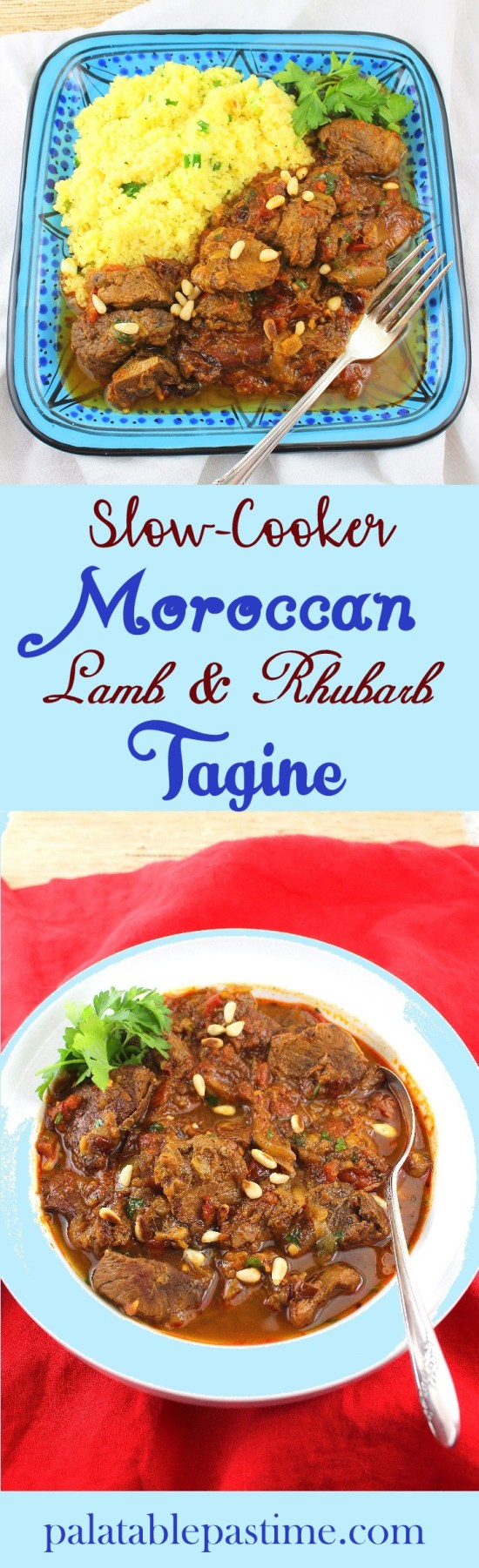 Slow-Cooker Lamb and Rhubarb Tagine