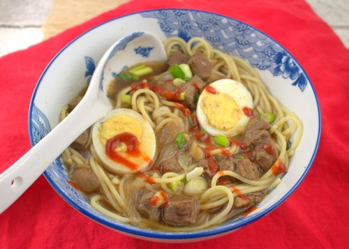 Ya ka Mein  beef noodle soup