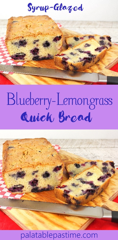 Blueberry Lemongrass Quick Bread