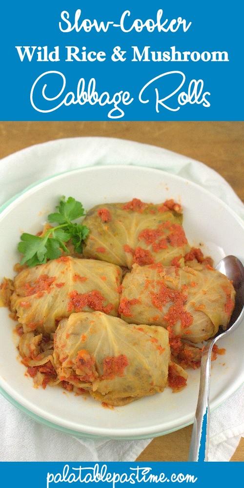 Wild Rice and Mushroom Cabbage Rolls