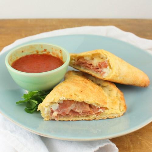 Classic Ham and Ricotta Calzone