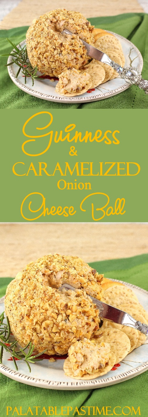 Guinness and Caramelized Onion Cheese Ball