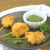 Curried Chicken Lollipops