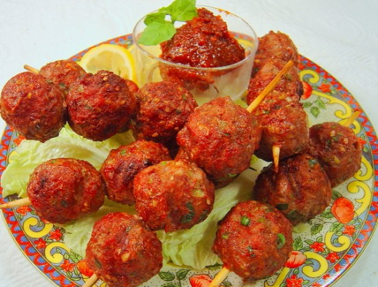 grilled korean style meatballs