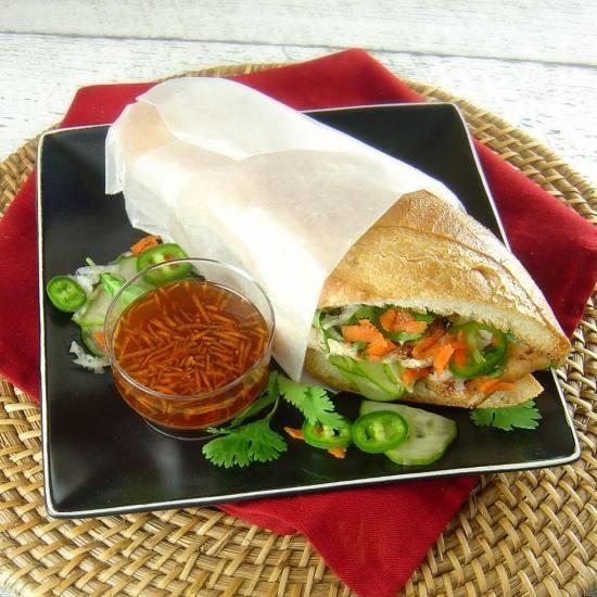 Lemongrass CHicken Banh Mi Sanwiches