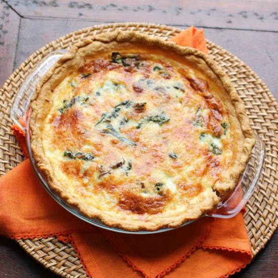 quiche with swiss chard and mushroom