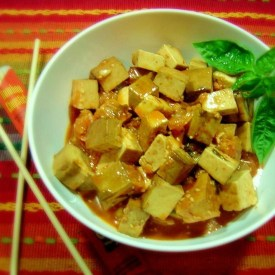 Korean Kimchi Marinated Tofu
