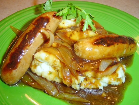 Irish Bangers and Mash