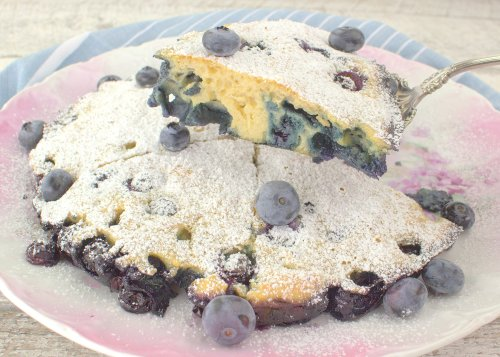 Oven Baked Blueberry Pancake