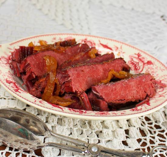 Crock Pot Glazed Corned Beef Brisket