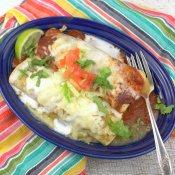 Chicken Enchiladas Divorciadas (Divorced Enchiladas)