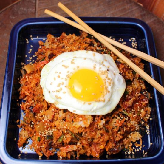 Korean Kimchi Bokkeumbap Fried Rice