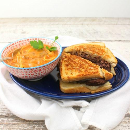 Beef Patty Melts with Mushroom Stroganoff Soup