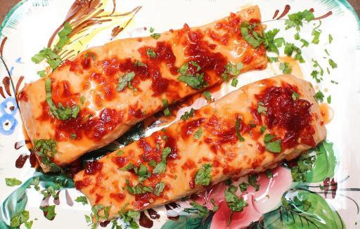 Sweet and Spicy Jalapeno Glazed Salmon