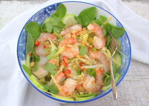 Spicy Thai Shrimp Salad (Yam Goong)